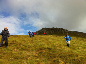 hillwalking on achill island
